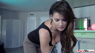 Italian MILF stepmother taboo fuck session with stepson