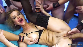 Aggressive assfucking and mouth fuck on big boobed elen million