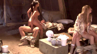 Army girls go wild in an orgy