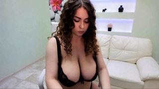 Kinky girl with big tits teasing you
