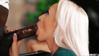 Big Black Cock predominates platinum-blonde secretary christina