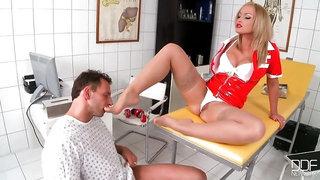 Raunchy foot nurse!