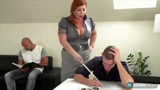 Tammy is a voluptuous, red haired woman who is always in the mood for a mmf threesome