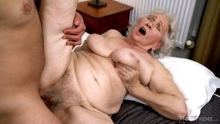 Old lady gets her hairy cunt drilled in ways she never experienced