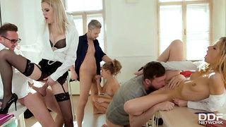 Coeds Fucked By Their Teachers - Group Sex