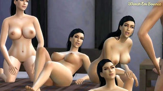 Sims 4 Wicked Whims Animation - Can't Stop Thinking About Kim K