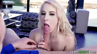 Clothed lady cops suck dick