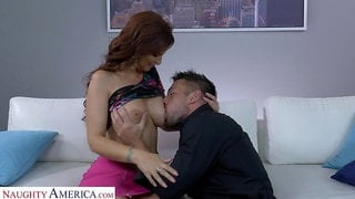 Gorgeous busty MILF Syren De Mer cannot get enough from hard doggy