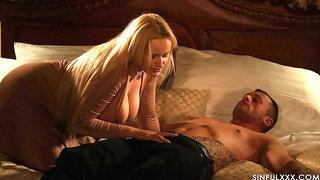 Wife invites pretty hot babe Valentina Nappi for passionate threesome sex