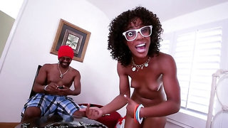 Misty Stone goes down on his massive black cock