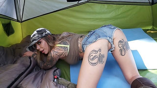 Karma's First Camping Fuck Trip, Day 1