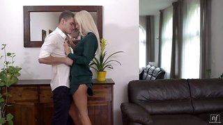 Svelte long legged sweetie Karol Lilien is eager to be fucked missionary