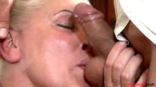 Chunky Granny getting fucked rough