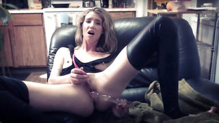 Provoking young babe indulges in hot masturbation on webcam