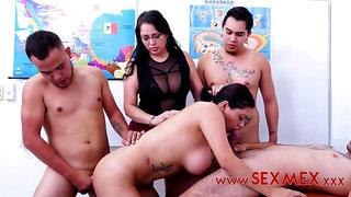 Sofia Caimanes - Gangbanging the teacher