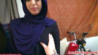 Hijab muslim amateur doggystyled on camera