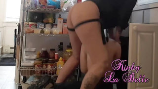 Pegging the Plumber Who Got Stuck Under the Sink With My Strapon Teaser