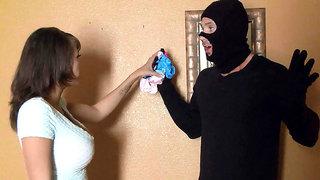Cassidy Banks caught a burglar collecting her underwear