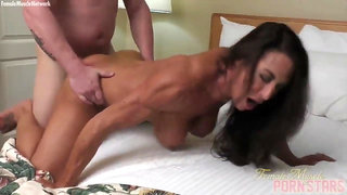Tanned Muscle MLF Briana Beau Pounded