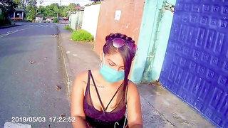SEXO por DINERO, VENEZOLANA en la calle Le doy DINERO para coger