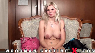 Pretty blonde girl with a lovely smile, Barbara Nova got doublefucked and liked it a lot