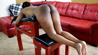 A Painful First Caning - Spanking