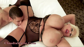 Claudia Marie is a ravaging ash-blonde girl with huge bod who luvs anal invasion hump and creampies