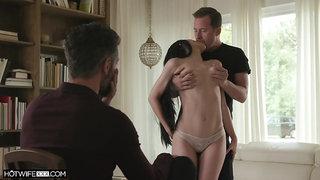 Teen slut shows her boyfriend the bets cuckold scenes