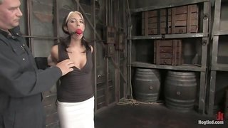 Gina Caruso in Hot Milf Gina Caruso, A Cable Sport Caster, Brings Her Hot, Shaved Body To Hogited. - HogTied