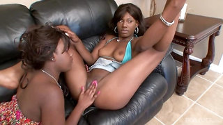 Persia London and Boomerang Explore Each Others' Black Pussies
