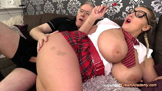 Krystal Swift gets creampied by an granddad again