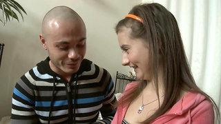 Steamy Russian Eighteen Years Old Lets Her Boyfriend Creampies Her Butt