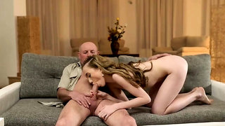 Old man fat girl Russian Language Power