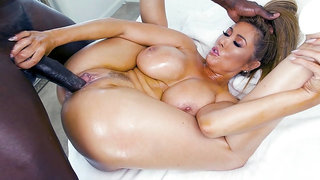 Kianna Dior got her pussy plowed by the black monster cock
