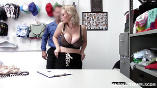 Russian sex bomb Casca Akashova gets punished for shoplifting