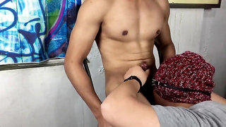 Blowjob with a Hunky Man