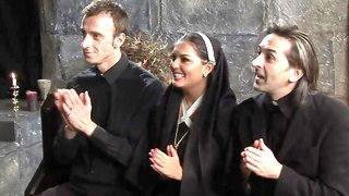 Cock hungry nuns invite priests to exciting group action