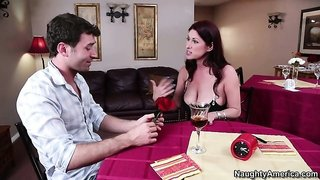 Tiffany Mynx invites over her date and they drink, he makes his move