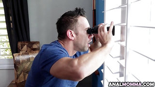 Horny Widow Visits Spying Neighbor for Amazing Anal Fuck