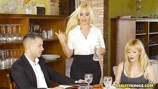 Plumpy Waitress Seduces Handsome Hunsband Of Other Woman