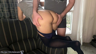 Relaxed fuck at hotel window in pantyhose - projectsexdiary