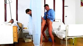 Tina Kay sucked & fucked bf's neighbor in the hospital while he was sleeping