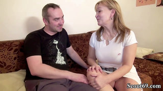 German mature with blonde hair is getting her bushy pussy drilled the way she always wanted