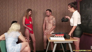 Candice Demellza, Lana Harding and Luci Reign - CFNM video