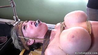 Dude anal fucks tied up busty Milf - Bondage