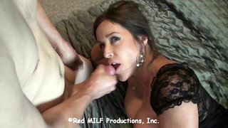Sexy Mom Hungry For Son's Cock Sucks and Fucks Her Son!