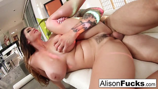 Fucking with Alison Tyler & a thick schlong!