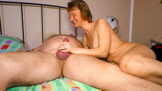 AmateurEuro Sexy Horny Granny Tease And Fucks With Her Hubby