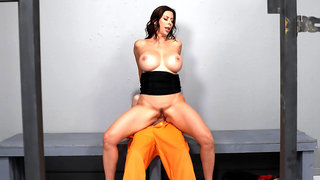 Jail guard Alexis Fawx secretly fucks inmate