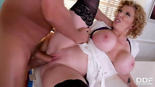 Sara Jay is the sluttiest doctor in a local hospital, because she likes to fuck various men